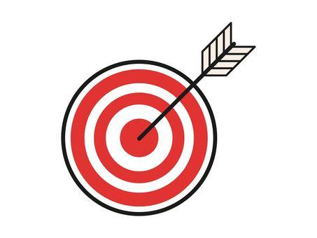 在紅色目標中間拍攝的 Yaha 獲勝圖像