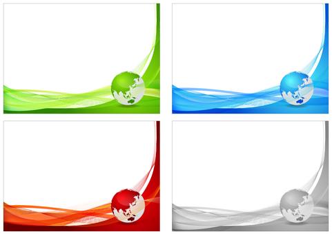 多彩的數字地球背景框架集