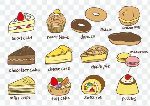 Cake sweets set