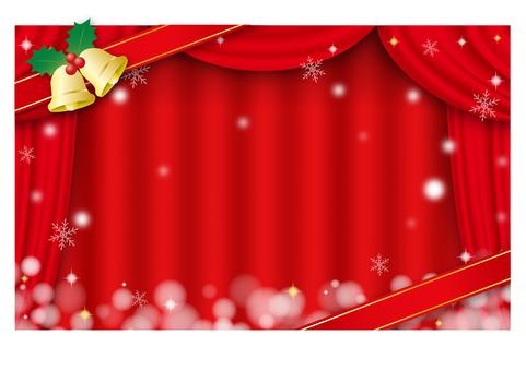 聖誕風格的窗簾形象