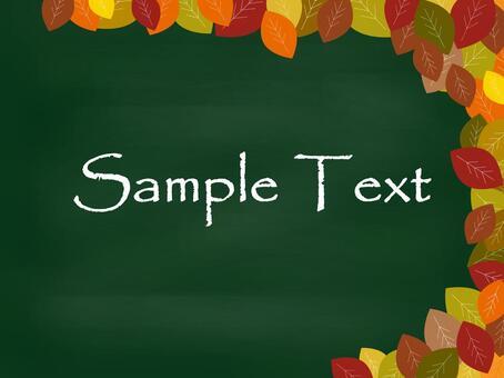 Autumn's blackboard material