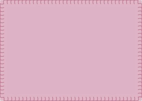 Blanket stitch frame pink