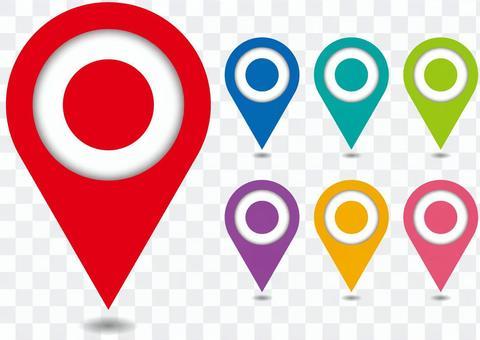 地圖地圖別針多彩