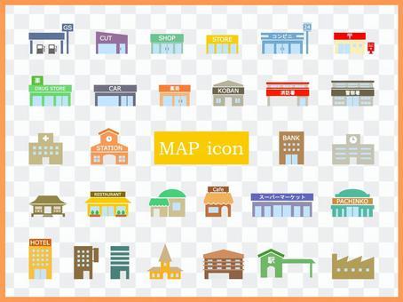 地圖建築物顏色