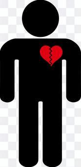 鋸齒狀的心臟象形圖