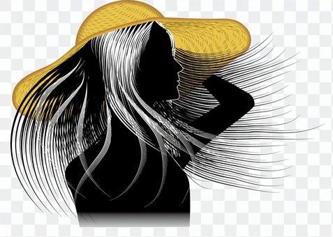 Hair straight smooth straw hat