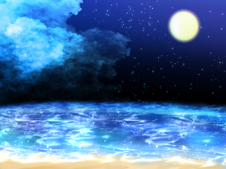 夜空和大海