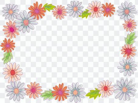 水彩花框架