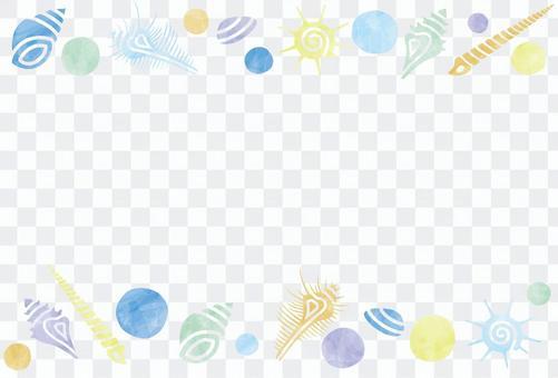 夏天顏色/貝殼框架
