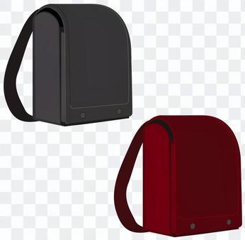 黑色和紅色書包