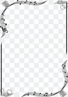 Music monochrome frame