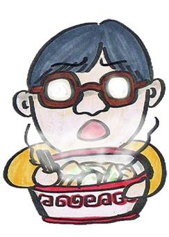 吃拉麵時吃眼鏡會變得多雲