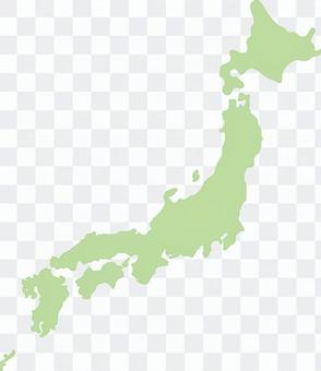 Simple map of Japan