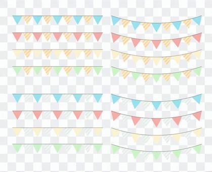 三角形3可愛的裝飾劃線