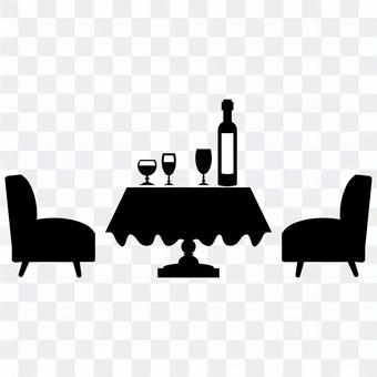Dining room set_silhouette material