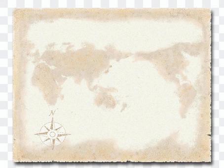 World map / direction mark