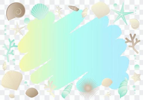 殼閃閃發光的框架