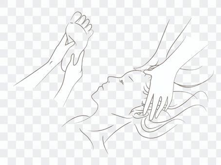 按摩插圖繪圖