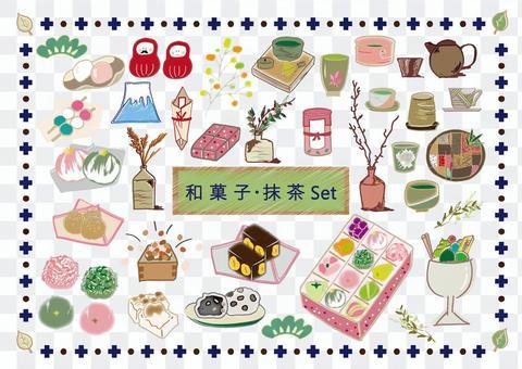和菓子・お抹茶・茶器セット