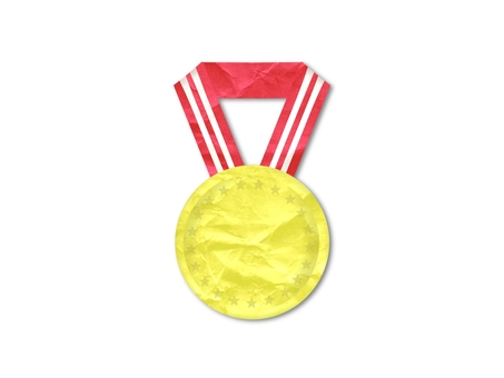 Colorful and cute gold medal