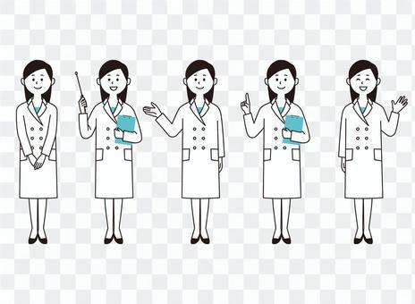 白人女性女性(2色風)