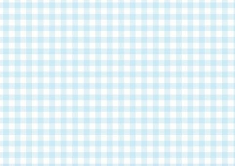 方格布式<柔和的藍色>