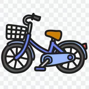 復古自行車(顏色:藍色)