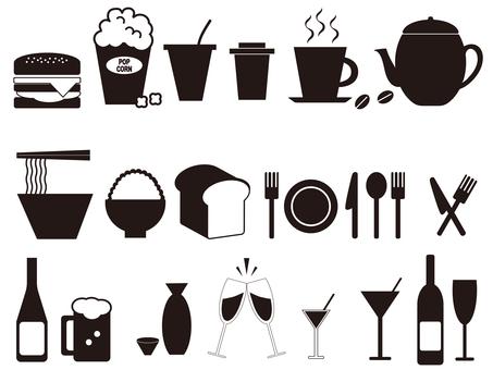 Icons used in restaurants, etc.