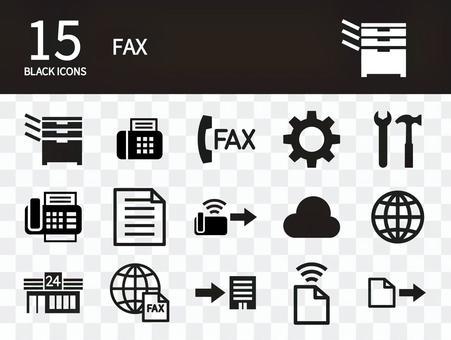 FAX icon set