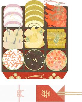 osechi 菜餚 08 的插圖
