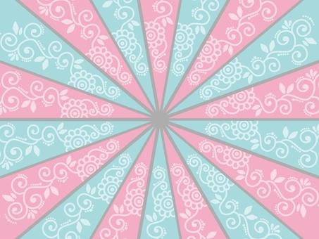 集中線背景粉彩