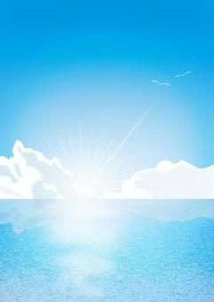 天空,海洋和雲
