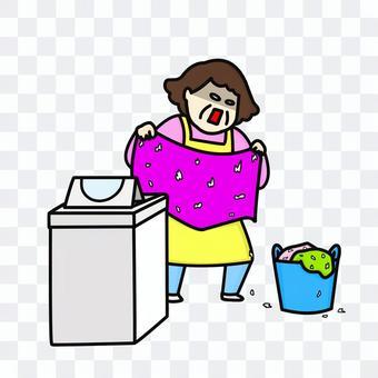 洗濯機 ティッシュ 中年女性
