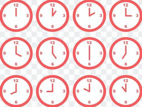 粉色的手錶