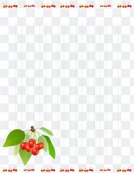 信紙垂直17線虛線櫻桃