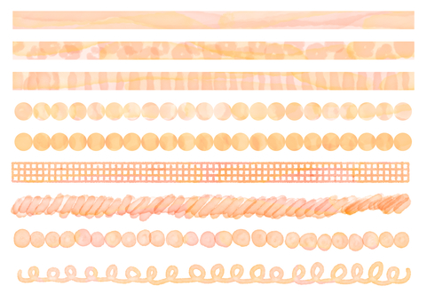 Watercolor line decoration set