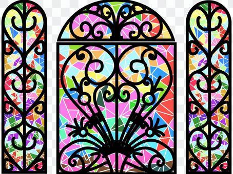 设计彩色玻璃门2