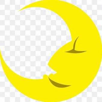 新月的輪廓