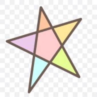 星星星星閃光彩虹色多彩