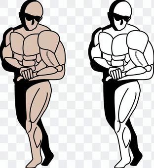肌肉健美男