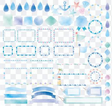 水彩_藍框&圖標集