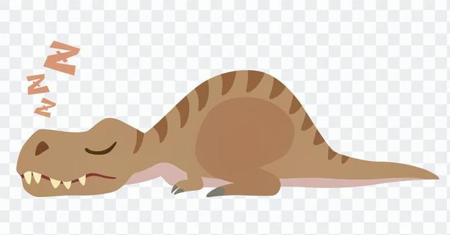 Sleeping Tyrannosaurus-1