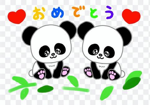 Congratulations to the panda twin babies