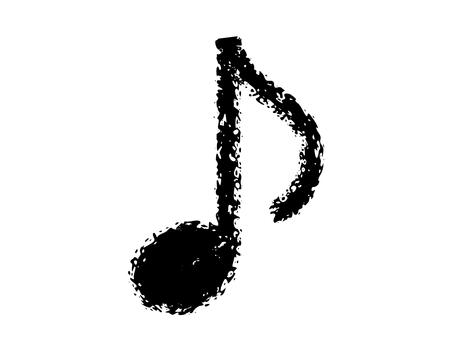 """Crayon handwritten """"eighth note"""" black"""