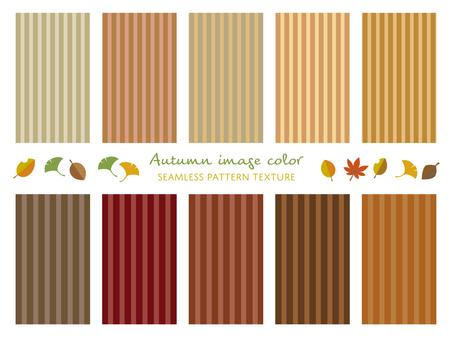 Autumn color stripe pattern set 02