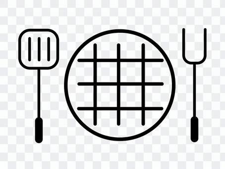 用於燒烤的鐵板和工具(BBQ)