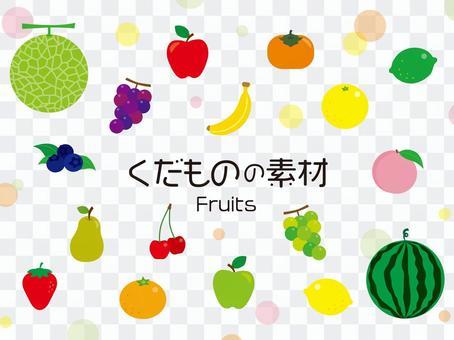 季節水果插畫素材