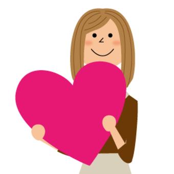 有心臟的婦女_上身
