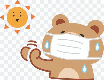 夏天戴面具的熱熊
