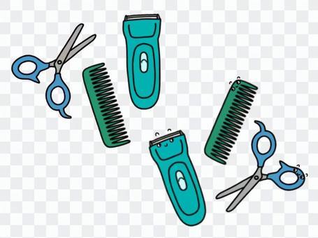 理髮_家裡的工具